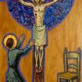 Gemma betet den Gekreuzigten an.