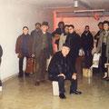 ehemalige Gastarbeiter, jetzt Mitspieler der Performance im Bunker