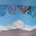 KAILASH  1, Tibet 2015,  Acryl auf Leinwand, 140 x 80 cm