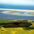 Bodden, inselkette und Windwatt von der Festlandsseite (Süden)