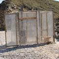 unsere improvisierte Sauna