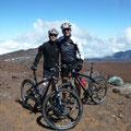 Am Gipfel des Haleakala, 3055  Meter, vor dem Downhill!
