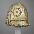 Parade Helmet in Hispano-Moresque Style, late 15th–early 16th century Spanish Steel, gold, silver, cloisonné enamel