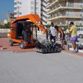Obra de pavimentación en España