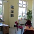 farbige Gestaltung der Büroräume