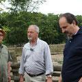 mit Peter Franke und Johann Lafer im Haustierpark Lelkendorf