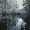 Ybbslandschaft • 2009 • Acryl auf Leinwand • 100 x 80