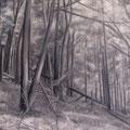 Waldstück • 2009 • Acryl auf Leinwand • 100 x 100