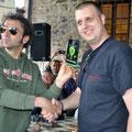 """Unsere Grinsekatze der CM bekommt den Preis für """"Best Scooter Boy"""" in Siena!"""