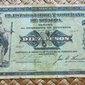 Mejico Estado de Sinaloa 10 pesos 1915 anverso