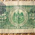 Mejico Estado de Sonora 25 centavos 1915 reverso