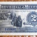 Mejico Gobierno Provisional 2 pesos 1916 anverso