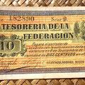 Mejico Tesoreria de la Federación -Guaymas 10 centavos 1913 anverso