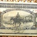 Mejico Estado de Chihuahua 10 pesos 1913 anverso