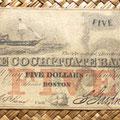 Massachusetts 5 dólares 1853