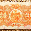 Mejico Estado de Chihuahua 20 pesos 1913 reverso