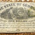 Georgia 5 dólares 1864