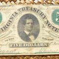 Virginia 5 dólares 1862
