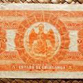 Mejico Estado de Chihuahua 5 pesos 1913 reverso