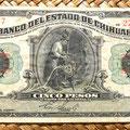 Mejico Estado de Chihuahua 5 pesos 1913 anverso