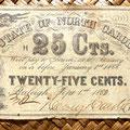 Carolina del Norte 25 centavos 1862