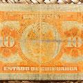Mejico Estado de Chihuahua 10 pesos 1913 reverso