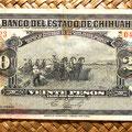Mejico Estado de Chihuahua 20 pesos 1913 anverso