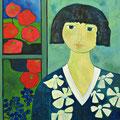 Das Mädchen vor dem Fenster, 2013 – Acryl auf Leinwand, 60x60 cm