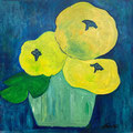 Gelbe Blumen, undatiert – Acryl auf Malkarton, 40x40cm