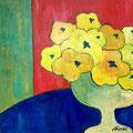 Gelber Blumenstrauss, undatiert – Acryl auf Leinwand, 40x40cm