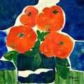 Rote Blumen 1, 2010 – Aquarell auf Papier, 30x30 cm