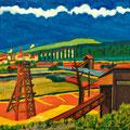 Alte Kiesgrube, 2010 – Acryl auf Leinwand, 50x50 cm