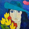 Jenny, undatiert – Acryl auf Leinwand, 50x50cm