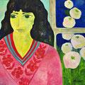 Pink Lady, undatiert – Acryl auf Malkarton, 40x40cm