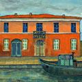 Casa al canale, 2014 – Öl auf Leinwand, 40x40 cm
