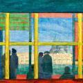 Partenza, 2010 – Acryl auf Leinwand, 50x50 cm