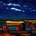 Fabriklandschaft, 2008 – Öl auf Leinwand, 56x56 cm