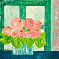 Rosa Strauss, 2010 – Acryl auf Leinwand, 30x30 cm
