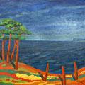 Au bord de la mer, 2014 – Öl auf Leinwand, 80x80 cm