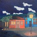 Dunkle Nacht, 2020 – Öl auf Leinwand, 50x50cm