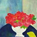Rote Blumen, 2011 – Acryl auf Malkarton, 40x40 cm