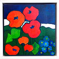 Roter Mohn, undatiert – Acryl auf Leinwand, 30x30cm