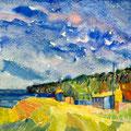 La spiaggia, 2008  – Aquarell auf Papier, 30x30 cm