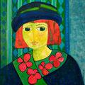 Le chapeau, 2009 – Acryl auf Leinwand, 40x40 cm