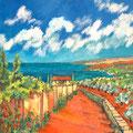 Sommerlandschaft, 2015 – Öl auf Leinwand, 50x50cm