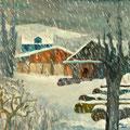 Schneefall, 2013 – Öl auf Leinwand, 50x50 cm