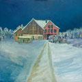 Winternacht, 2020 – Öl auf Leinwand, 50x50cm