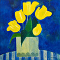 Gelbe Tulpen, 2013 – Acryl auf Malkarton, 35x35 cm
