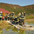 FW Gunningen entnimmt ebenfalls Wasser aus dem Löschteich
