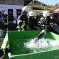 Wasserentnahme vom Faltbehälter